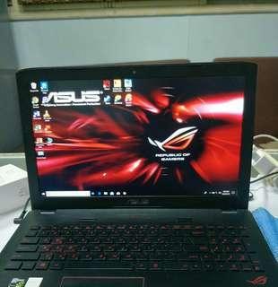"""Asus rog  gaming laptop  GL552JX i5-4200h 15.6"""" led"""