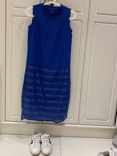 Initial藍色連身裙