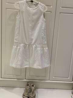 Initial白色連身裙