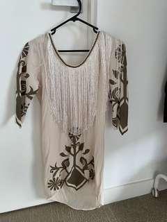 SPELL Byron Bay Tassle Dress XS/6