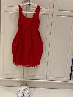 紅色背心裙