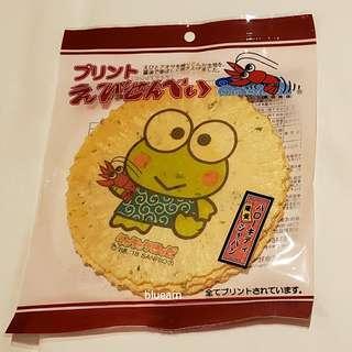 [日本限定] 青蛙蝦餅 Keroppi Cracker (4枚)