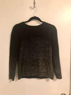Ombré black and silver sweater