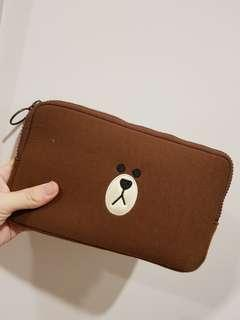 Little Line Brown pouch