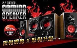 Tcs3429/2.2 channel gaming speaker 99% brand new/original price 2,240