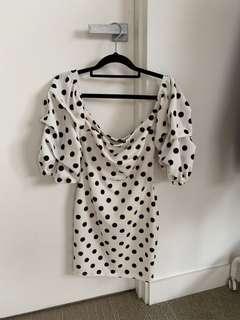 Fashion Nova Polka Dot Bodycon Dress BRAND NEW