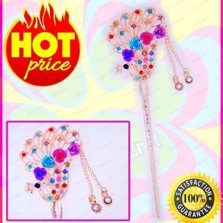 New Stylish Fashionable Colorful Peacock crystal Hair Accessories Hair Stick Pin