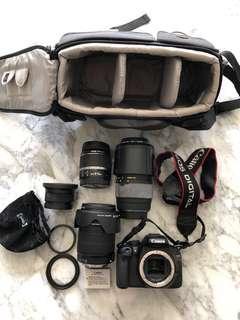 Canon EOS Kiss X4 + 4 lenses LIKE NEW!