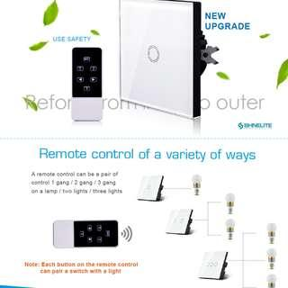 ivolo light wEU standard LED RF433 domotica remote control switches, Crystal Glass panel Wireless wall switch for broadlink