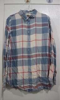 Hnm tartan red blue shirt