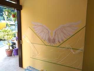 🚚 手工壁畫製作天使翅膀
