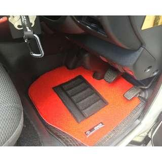 FLOOR MATS FOR TOYOTA HIACE OEM FITMENT..PVC COIL MATS FRONT DRIVER/PAX 02 PCS  COLOR AVAILABLE - RED, BLACK, GREY ,BEIGE ,BROWN,GREEN  & BLUE...