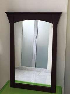 GuangXi Mirror - Solid wood mirror, home decor, wall mirror, wooden frame mirror, mirror with frame, vintage mirror, mirror