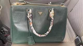 💯 Prada Lux Tote Dark Green