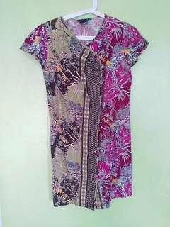 Dress Batik Ungu