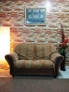 Sofa 2 Seater Tahan Lasak Washable