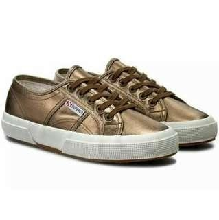 Superga bronze sneakers