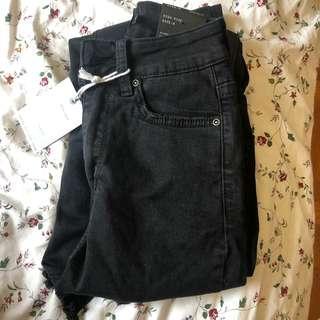 💕New Stretchy Skinny Blank distresses bottom jeans