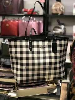 Coach Checkered Shoulder Bag
