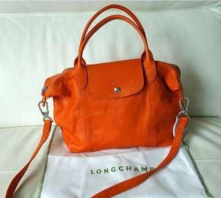 Longchamp Le Pliage Cuir Leather Small