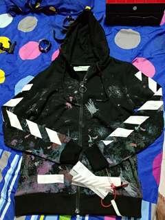 hoodie off white galaxy zipper size xxs ultimate clone