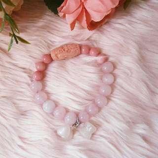 Rose Quartz Piyao Charm Bracelet