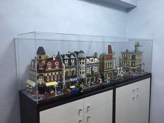 亞加力膠display box for 1:6 figure, Lego Modular house