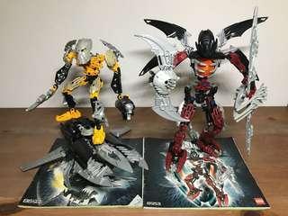 LEGO BIONICLE Mistika series - Toa Inika & Makuta Icarax