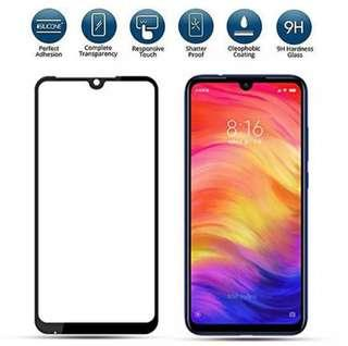 🚚 Redmi Note 7 full coverage tempered glass screen protector