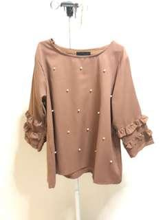 brown pearl top