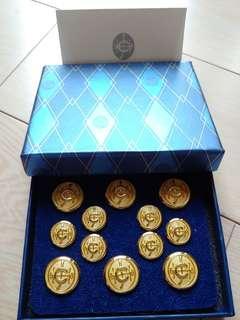 HK Jocky Club 鍍金鈕扣