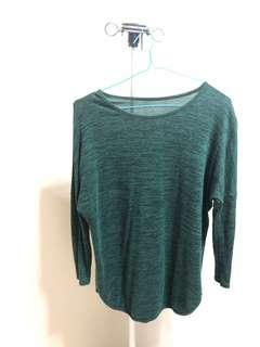 emerald green knit tunic