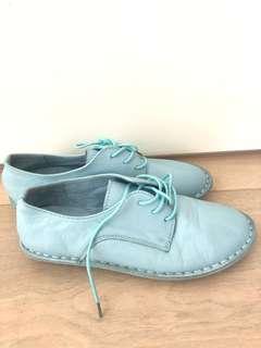 Baby blue Taiwan platform PU shoe