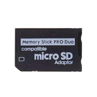 PSP micro sd card adapter, memory stick pro
