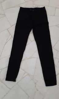 Korean Black Highwaisted Jeggings