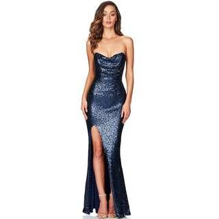 Navy Valentina Formal Gown