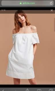 Aritzia Lunette Dress in White Size Small
