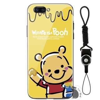 PRE-ORDER PH016 Winnie Pooh Tempered Glass Back Case