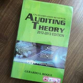 CPA Examination Reviewer AUDITING THEORY 2012-2013 Edition by Gerardo Roque