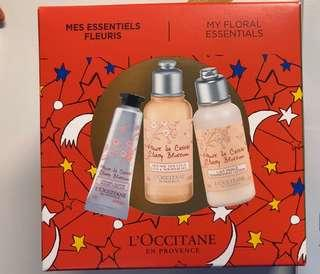 L'OCCITANE set (hand cream, bath&shower gel,lotion)