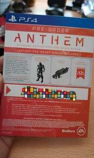 Anthem redemption code