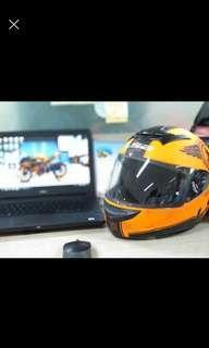 Forsale Helm LS2 Rookie Orange Matt Mulus