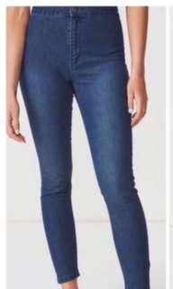 Mango Highwaist Navy Denim Jeans