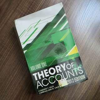2012 Edition THEORY OF ACCOUNTS Volume 1 by Valix
