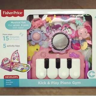 美國FISHER PRICE 費雪 遊戲毯 BB 爬行墊 腳踏鋼琴 遊戲墊 健身架 BMH49 bb玩具 $388