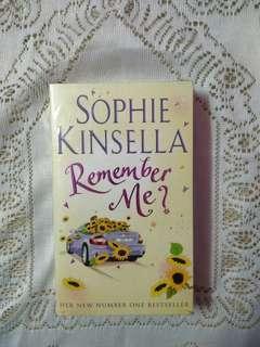 English novel: Remember me? by Sophie Kinsella