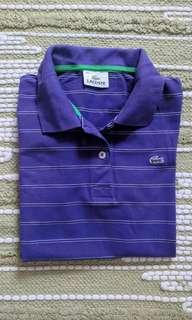 Lacoste polo shirt for women, size small