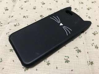 🚚 貓咪iPhone 6矽膠手機殼