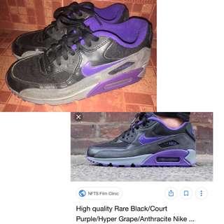 best service af48d 5e637 Nike Women s Air Max 90 Essential Black Hyper Grape