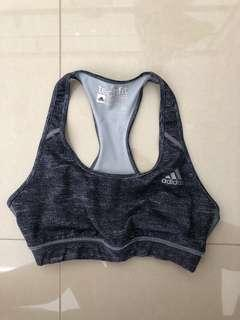 Adidas grey gym crop top bra size XS